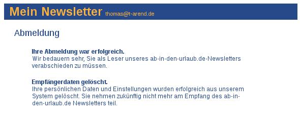Abmeldeung bei ab-in-den-urlaub.de  (Screen-Shot Ausschnitt)