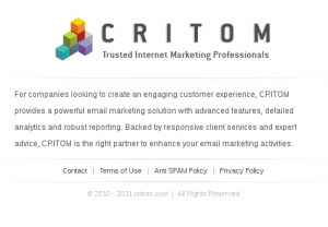 CRITCOM - Trusted Internet Marketing Professionals