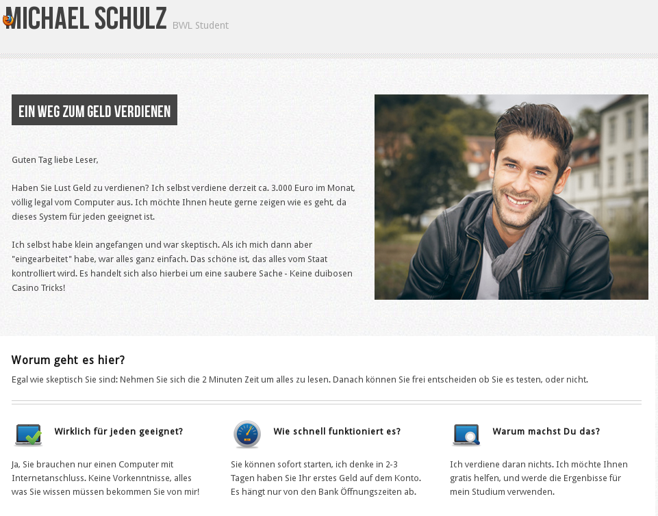 Michael Schulz - Geld Jetzt mit Forex