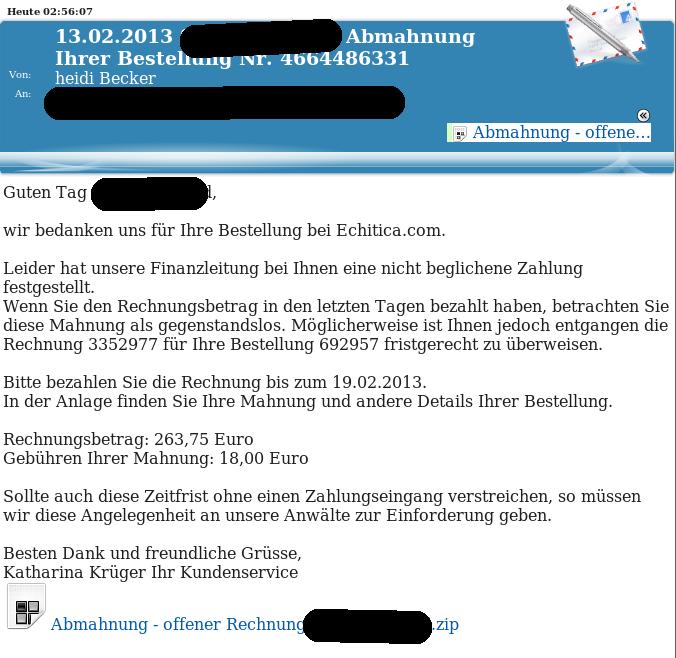 E-Mail mit Trojaner