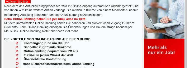 Pishing: Sparkasse Online-Banking – Kundendienstes-Sicherheits-update