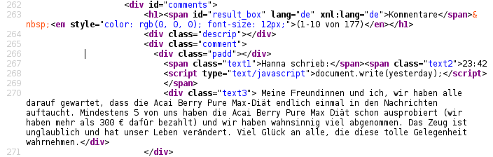 Source Code Kommentar
