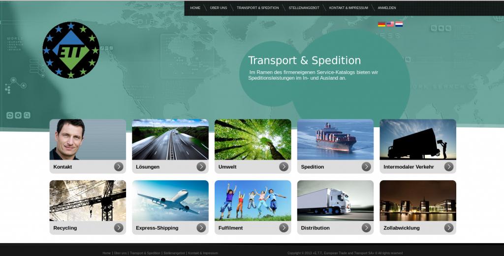 Homepage ETT-SA