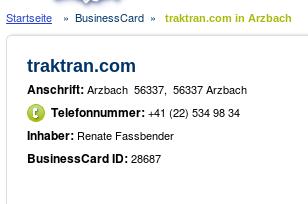 traktran, 56337 Arzbach