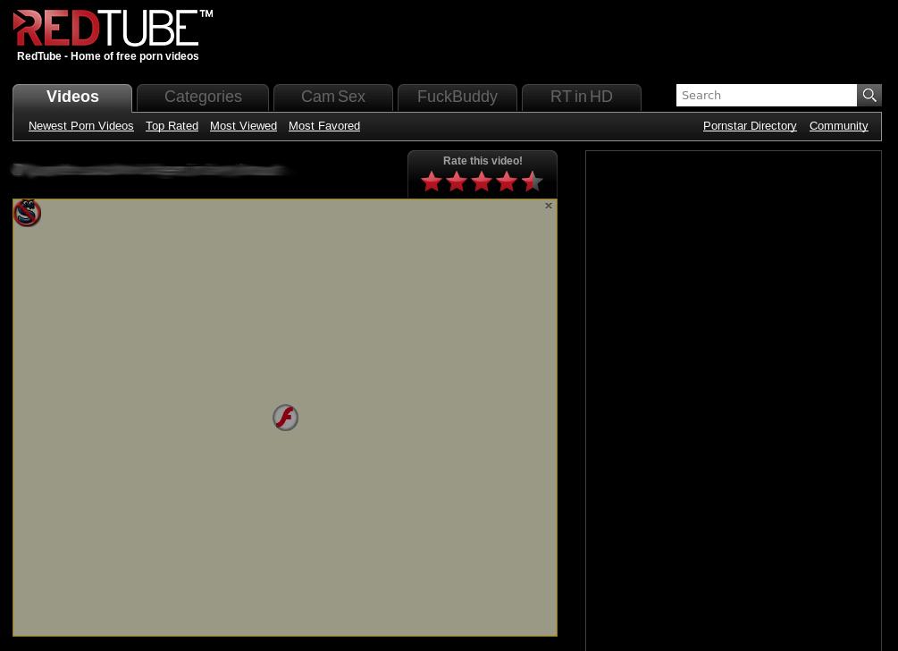 Ansicht der RedTube Seite mit aktiven NoScript Plugin