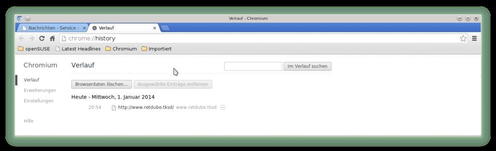 Chronik für den T-Online über Proxy retdube.tksd
