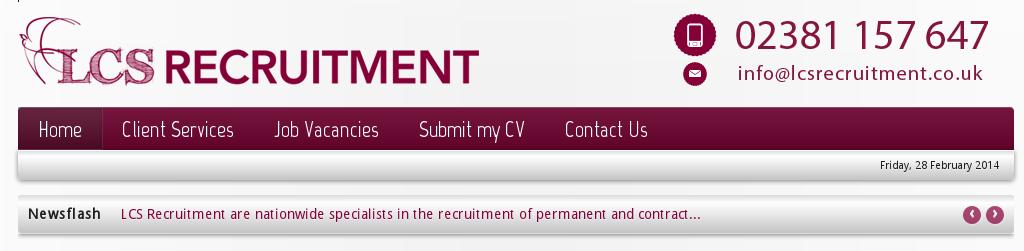 Ausschnitt aus der Original Seite LCS Recruitment