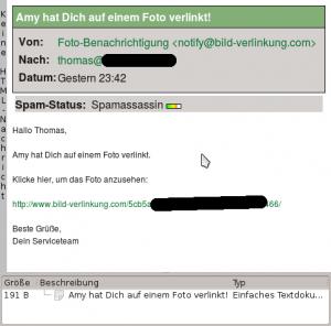 SPAM: Amy hat Dich auf einem Foto verlinkt!