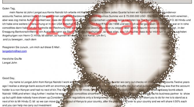 Scam: Nigerian Scam – Jetzt auch zweisprachig.