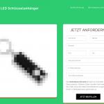 Landing Page Gratis LED Schlüsseianhänger