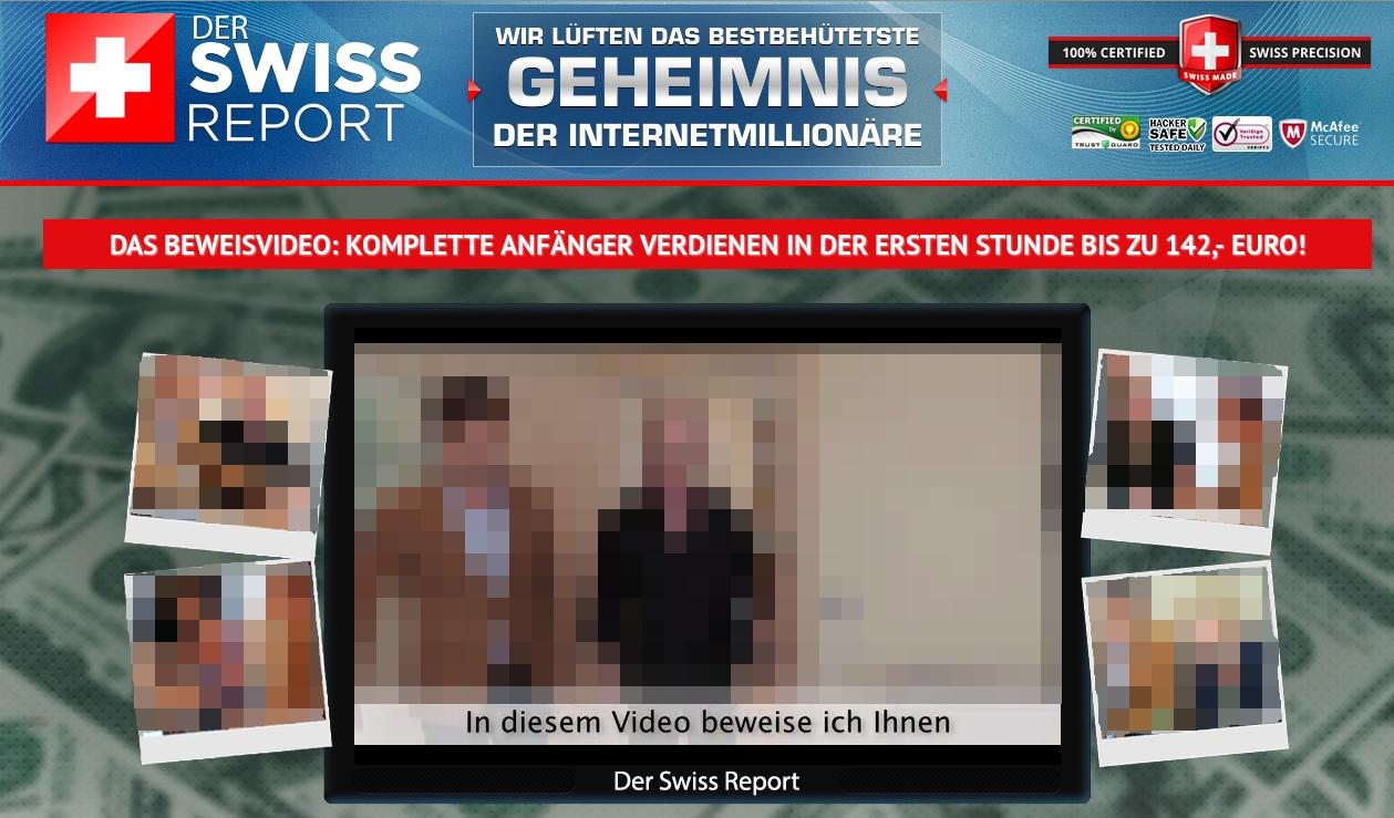 Der Swiss Report - Landing page