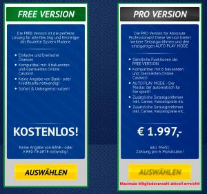 Roulette Winner Free und Pro