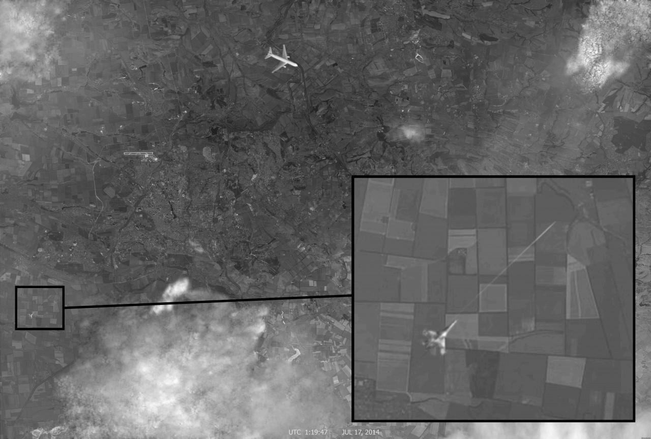 Angebliches Spionagebild des Abschusses MH17