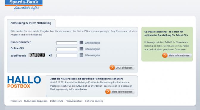 Phishing: Sparda Bank – Bestätigung Ihrer Daten erforderlich