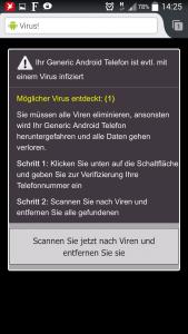 Ihr Generic Android Telefon ist evtl. mit einem Virus infiziert