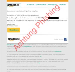 Angeblich notwendige Datenaktualisierung für Amazon