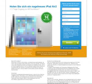 allyourmusic.net: Werbegeschenke iPad Air2