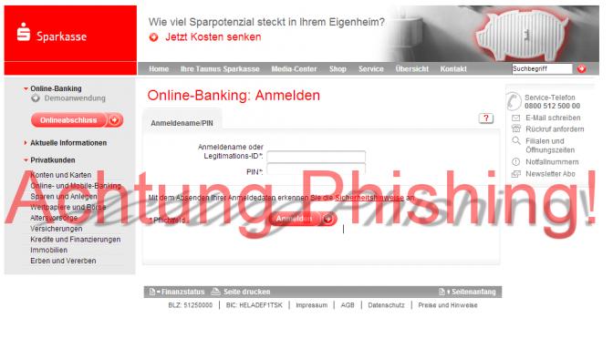 Phishing Seiten über Google suchen