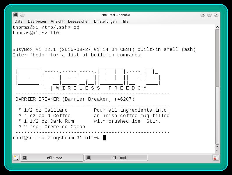 Verwaltung eines Router per SSH