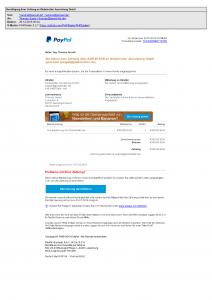 Angebliche Paypal Rechnung