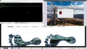 Anmeldebildschirm Raspberry Pi